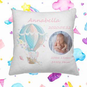 Cuki állatos légballonos baba párna kislányoknak