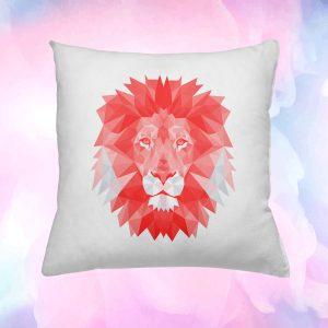 Designos oroszlános díszpárna