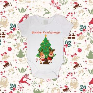 Baby body karácsonyi mintával