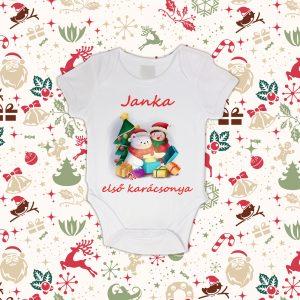 Baba első karácsonya saját névvel