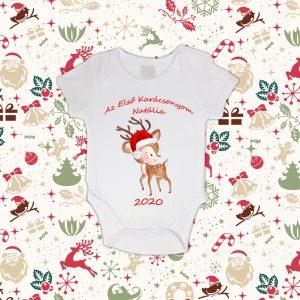 Az Első Karácsonyom Rudolfos Baba Body