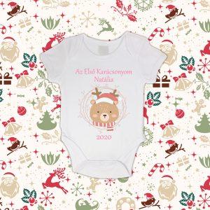 Baba Első Karácsonya Baby Body Névvel&Évszámmal