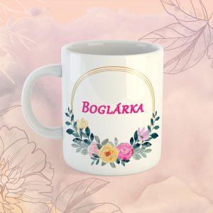 Neves Virágos Bögre