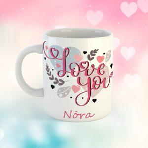 Neves Love You Bögre