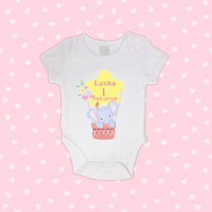 1 Éves Lettem Cuki Elefántos Neves Baby Body