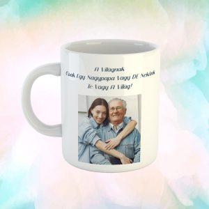 Fényképes Ajándék Bögre Nagypapáknak