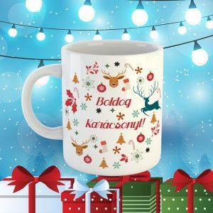 Boldog Karácsonyos Ajándék Bögre